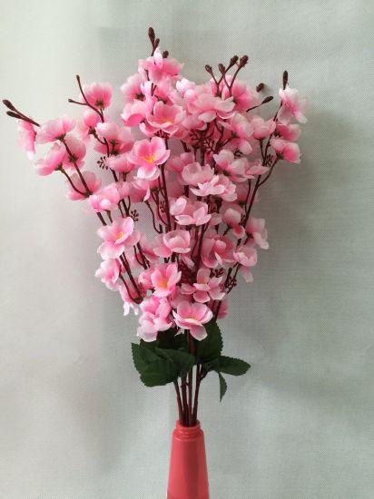 China silk artificial flowers fake pink peach blossom for home silk artificial flowers fake pink peach blossom for home wedding decoration wholesalers mightylinksfo