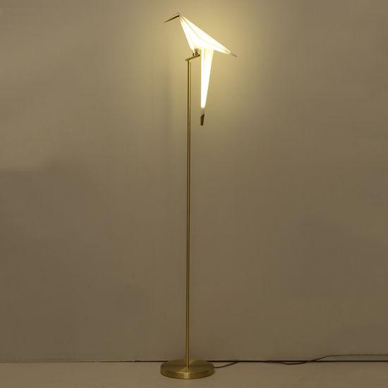 Decorative Bird Floor Lamp Modern Standing Lighting