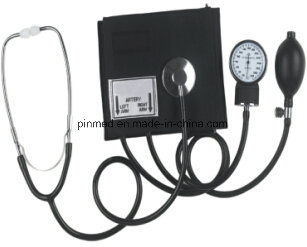 Standard Aneroid Sphygmomanometer with Stethoscope pictures & photos