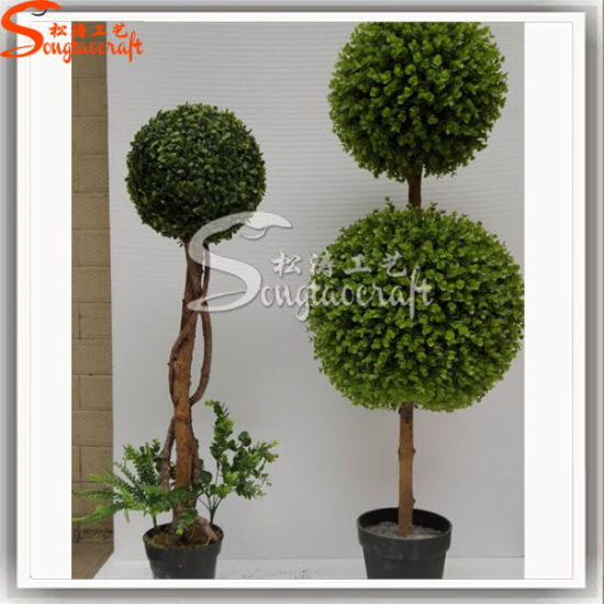 Green Wall Ornament M Blue Ball Artificial Boxwood Lawn Ball pictures & photos