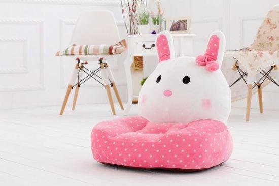 Charmant Soft Plush Pink Rabbit Childrens Chair, Plush Aniaml Sofa