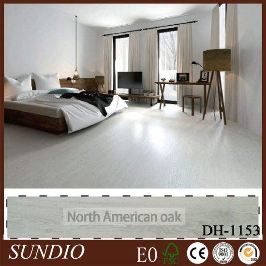 Woodgrain Decorative PVC Waterproof Laminate Wood Flooring with UV Coating pictures & photos