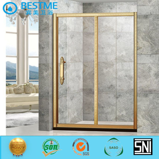 Golden Aluminium Accessories Hinge Shower Door for Bathroom Ga-111 pictures & photos