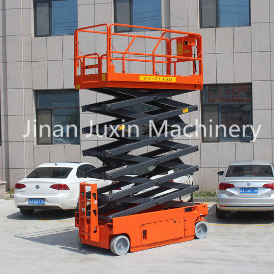 14m Factory Sale Outdoor Self-Propelled Cheap Scissor Lifts Aerial Platform