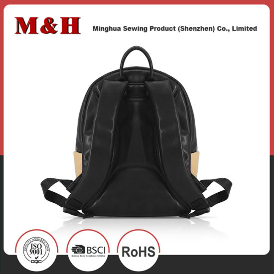 Fashion Multi-Pocketed Women Travel Leather Backpack Bag pictures & photos