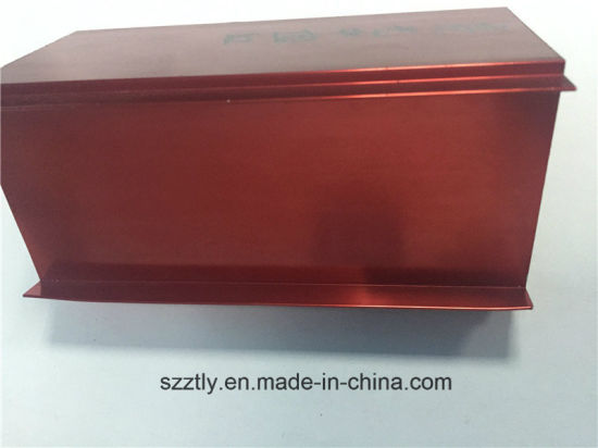 Custom 6063t5 Anodised Red Aluminium/Aluminum Extrusion Profile pictures & photos