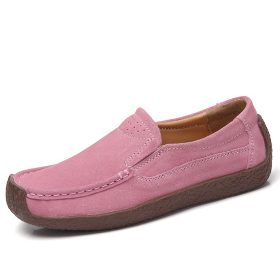 Classic Casual Genuine Leather Driving Moccasins Penny Loafers Shoes Women pictures & photos
