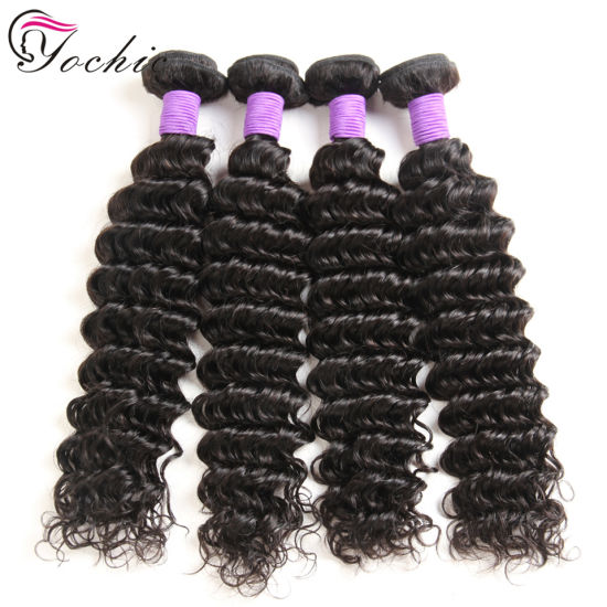 Deep Wave Peruvian Hair Weave Real 100% Remy Human Hair Extensions Cheap Natural Color Virgin Human Hair Weft