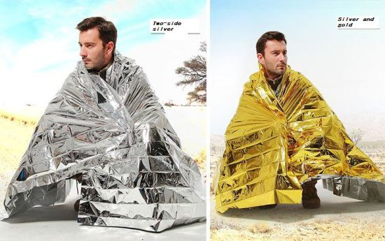 2015 Keep Warm Heat Back First Aid Thermal Travel Emergency Blanket Space Brand Emergency Blanket Thermal Emergency Blanket Silv pictures & photos