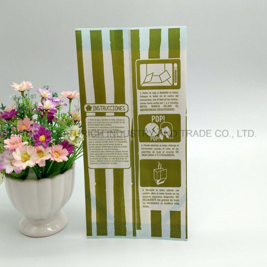 China Zigzag Striped Dots Lace Flower Kraft Paper Bags