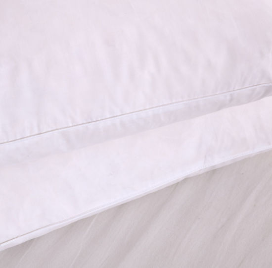 White Color Hotel Siliconized Fiber Bed Pillow pictures & photos
