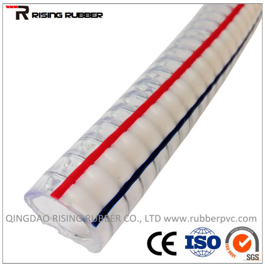Soft PVC Spiral Steel Wire Reinforced Hose pictures & photos