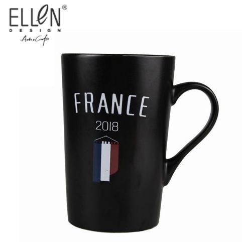 Promotion 16oz World Cup Black Porcelain Coffee Mug