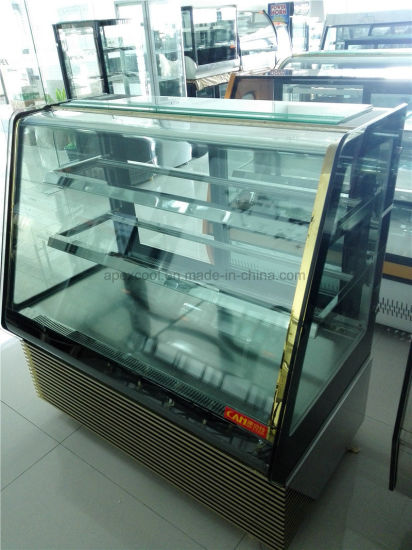 2017 New Style Supermarket Cake Showcase Price/Cake Chiller/Glass Cake Display Cabinet pictures & photos