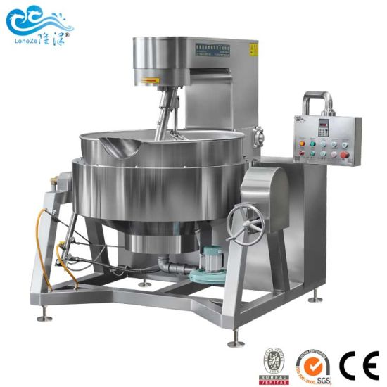 Factory Supply Industrial Cooking Jacketed Kettle with Mixer for Tomato Sauce and Spice