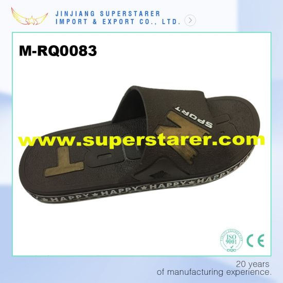 22a857f89 China Funky Anti Slip Man Slipper, Deep Brown Color PVC Slippers ...