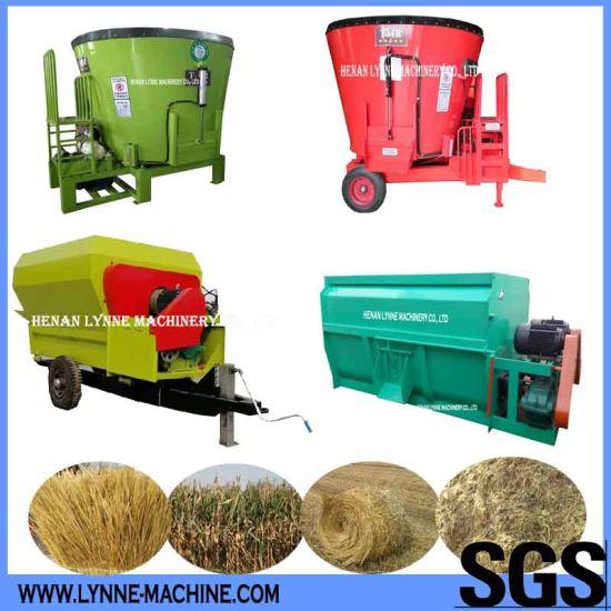 Vertical Cattle Fodder Mixer Machine for Dry Hay/Corn Straw/Silage Grass