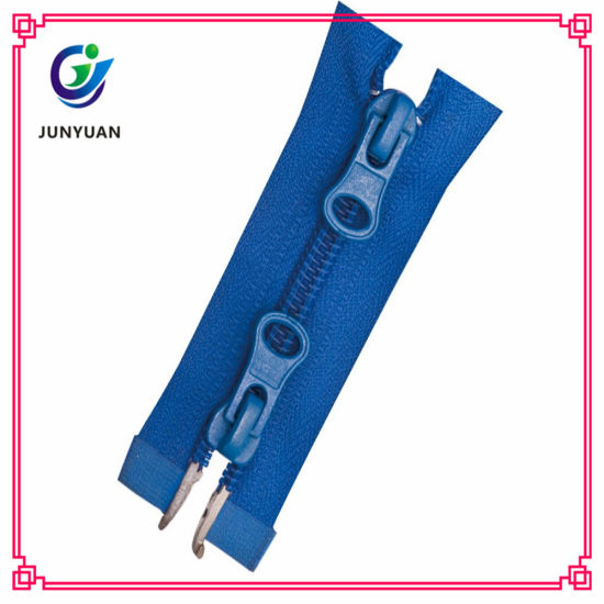 Two Way Open Zipper Custom Length Nylon Zipper for Cloth