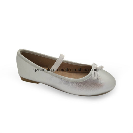 Soft PU Flat Walking Ballerina Shoes for Kids