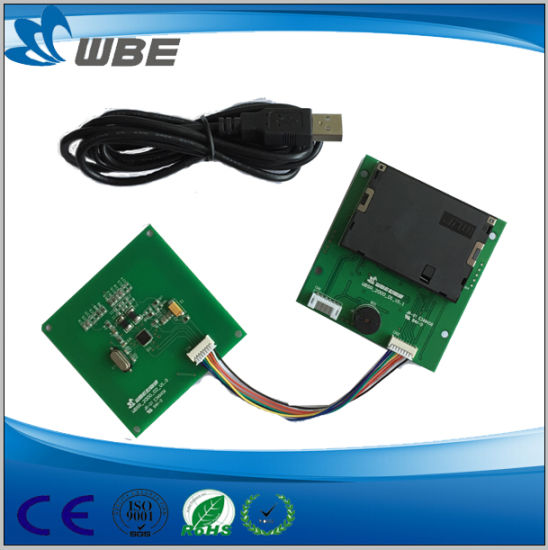 Manual Insertion Contactless IC Card Reader Module pictures & photos