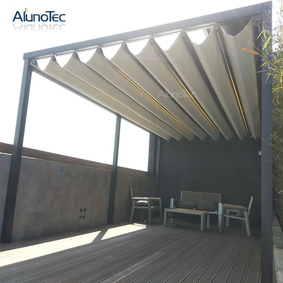 Automatic Retractable Roof Motorized Awning Pergola for Outdoor Living