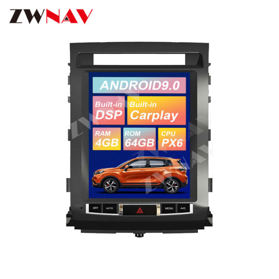 Car Radio DVD Player for Toyota Land Cruiser LC200 2008-2015 Android Multimedia Player GPS Navigation Px6 Auto Stereo Head Unit