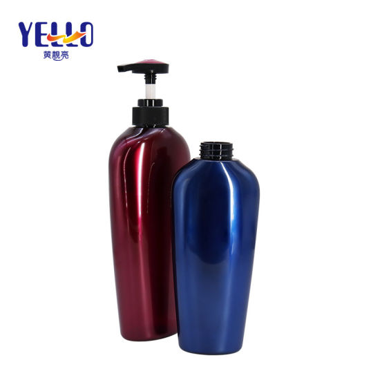Premium Blue Pearl Plastic Pet 400ml 750ml Big Shampoo Bottle Packaging