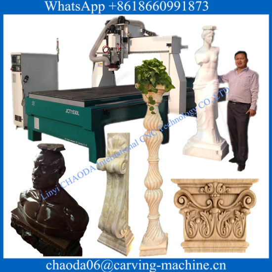 Sculpture Wooden Carving Mold CNC Wood and Stone Engraver 4 Axis CNC Router for Stone pictures & photos
