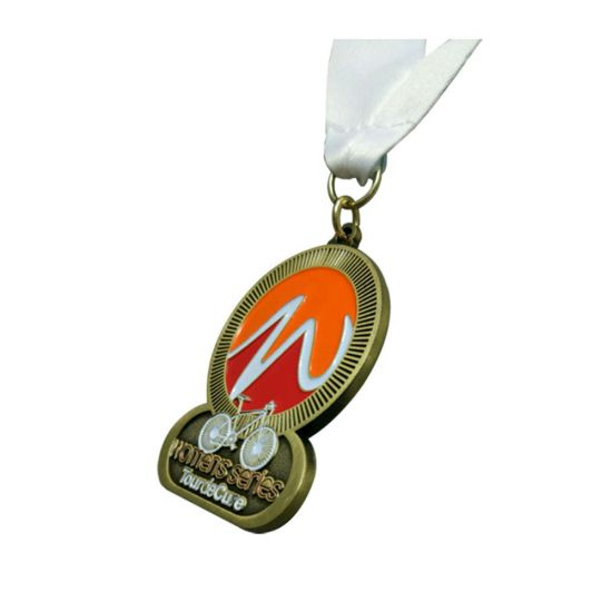 Sports Activities Metal Material Bicycle Honor Medal