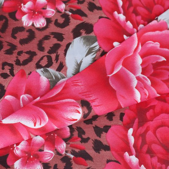 Chinese Factory Penoy Pattern Polyester Bedsheet Fabric