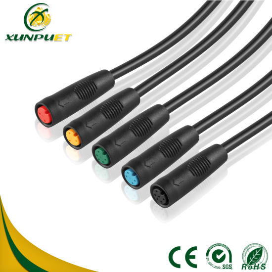China 6 Pin Wire Cable Connector Waterproof Cable for Shared Bicycle ...