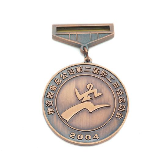 Custom Plating Medal 3D Metal Souvenir Sports Medal with Ribbon