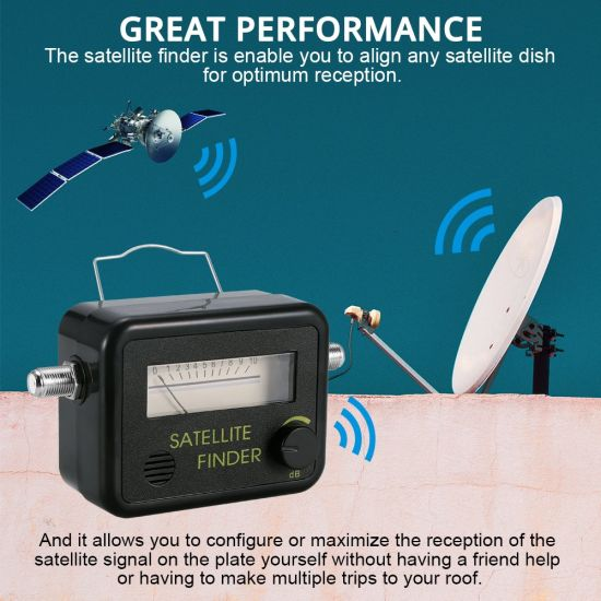 Blue AGPtek Digital Satellite Signal Finder Meter for Dish Network Directv FTA with Compass and Audio Tone