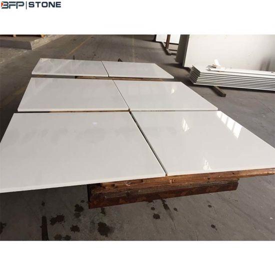 China Pure White Nano Glass Big Slab For Wall Cladding Flooring