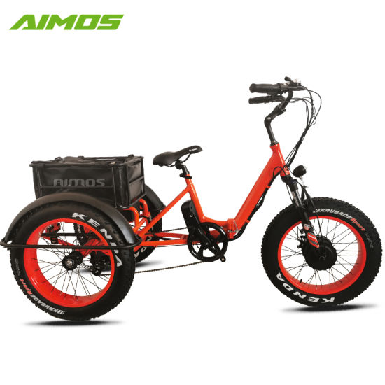 "Folding Adult Tricycle 20/"" Portable Bike Bicycle 3-wheel Tricycle V-brake HOT"