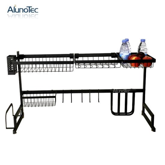 China 85cm Durable Black Design Kitchen Storage Shelf Over