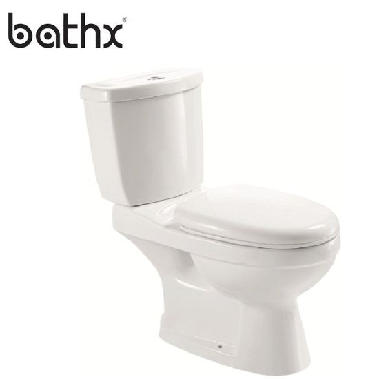 High Quality Washdown Flushing Double Piece Bathroom Ceramic Middle East Toilet (PL-6614)