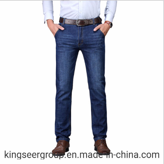 New Fashion Design Cotton Trousers Superior Customized High Quality High Waist Business Casual Men Denim Jeans