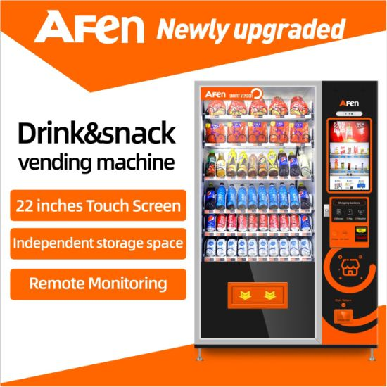 Afen Automatic Self Service Snack Drink Combo Vending Machine Manufacturer