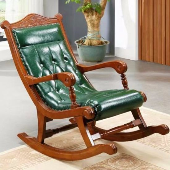 Living Room Furniture with Leather Rocking Sofa Chairs