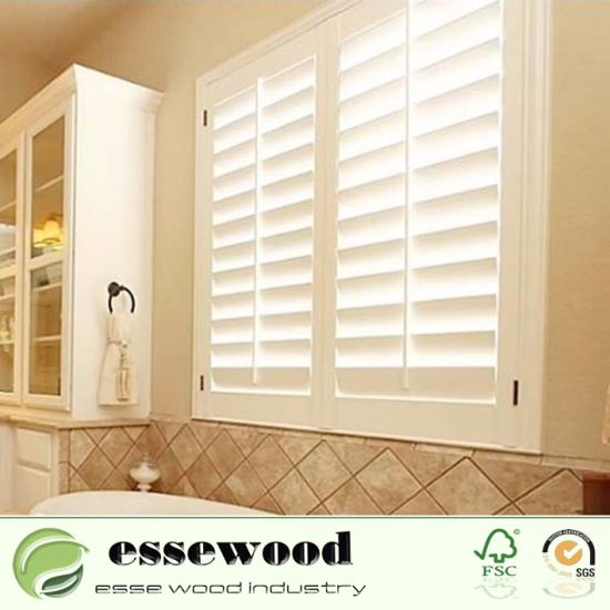 Hot Sale Popular Design Wood Plantation Shutters For Window Frames