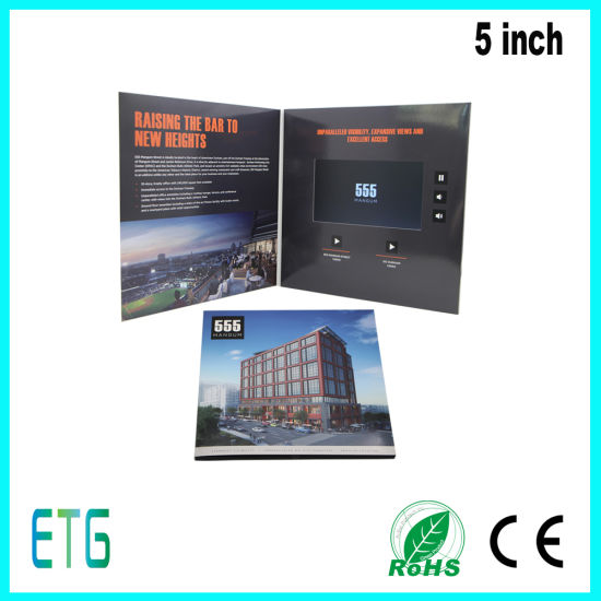 5 Inch Promotion Invitation LCD Video Greeting Card pictures & photos