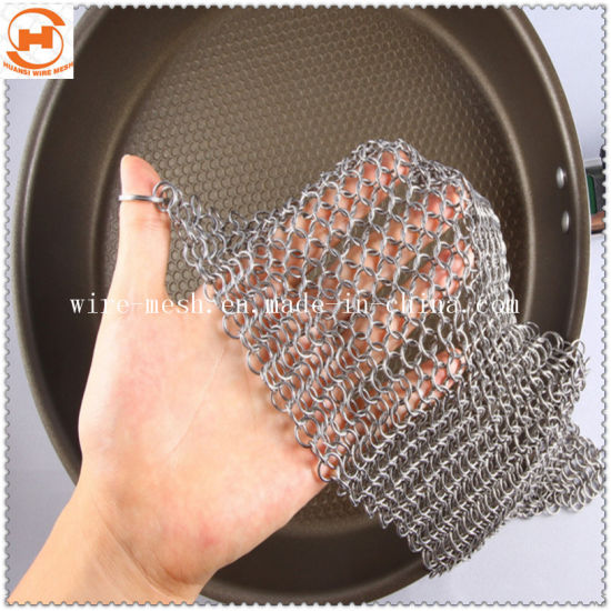 Stainles Steel Chainmail Kitchen Cleaner/Scrubber