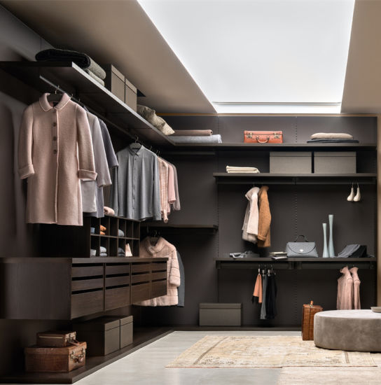 China Wood Almirah Design in Bedroom Modern Flat Pack Closet