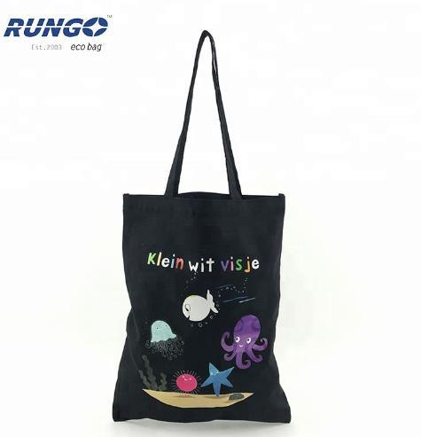 100% Natural Printed Calico Canvas Shopping Tote Cotton Bag