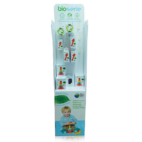 OEM Baby Toys Cardboard Floor Display with Hooks Professional Pop/POS Cardboard Display Factory China pictures & photos