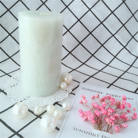 Rustic Surface Paraffin Wax Scented Pillar Candle