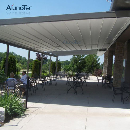 Waterproof Roof Retractable Awning For Restaurant