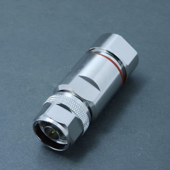 Male Clamp RF N Connector for 1-2 Foam Feeder Cable