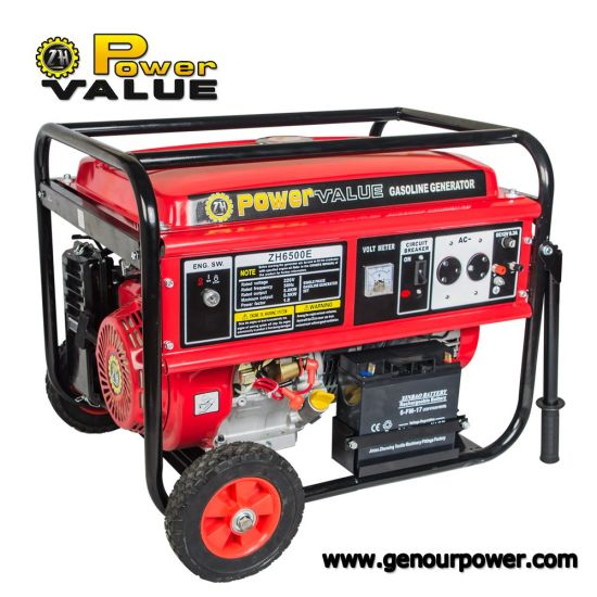 Power Value Portable Gasoline Generator 5kVA Price pictures & photos
